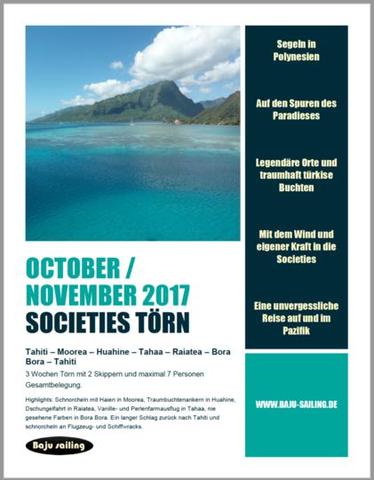 Segeln in Französisch Polynesien